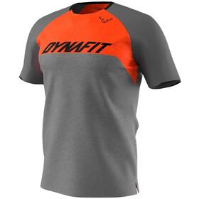Dynafit Ride Kurzarm T-Shirt Herren grau/orange